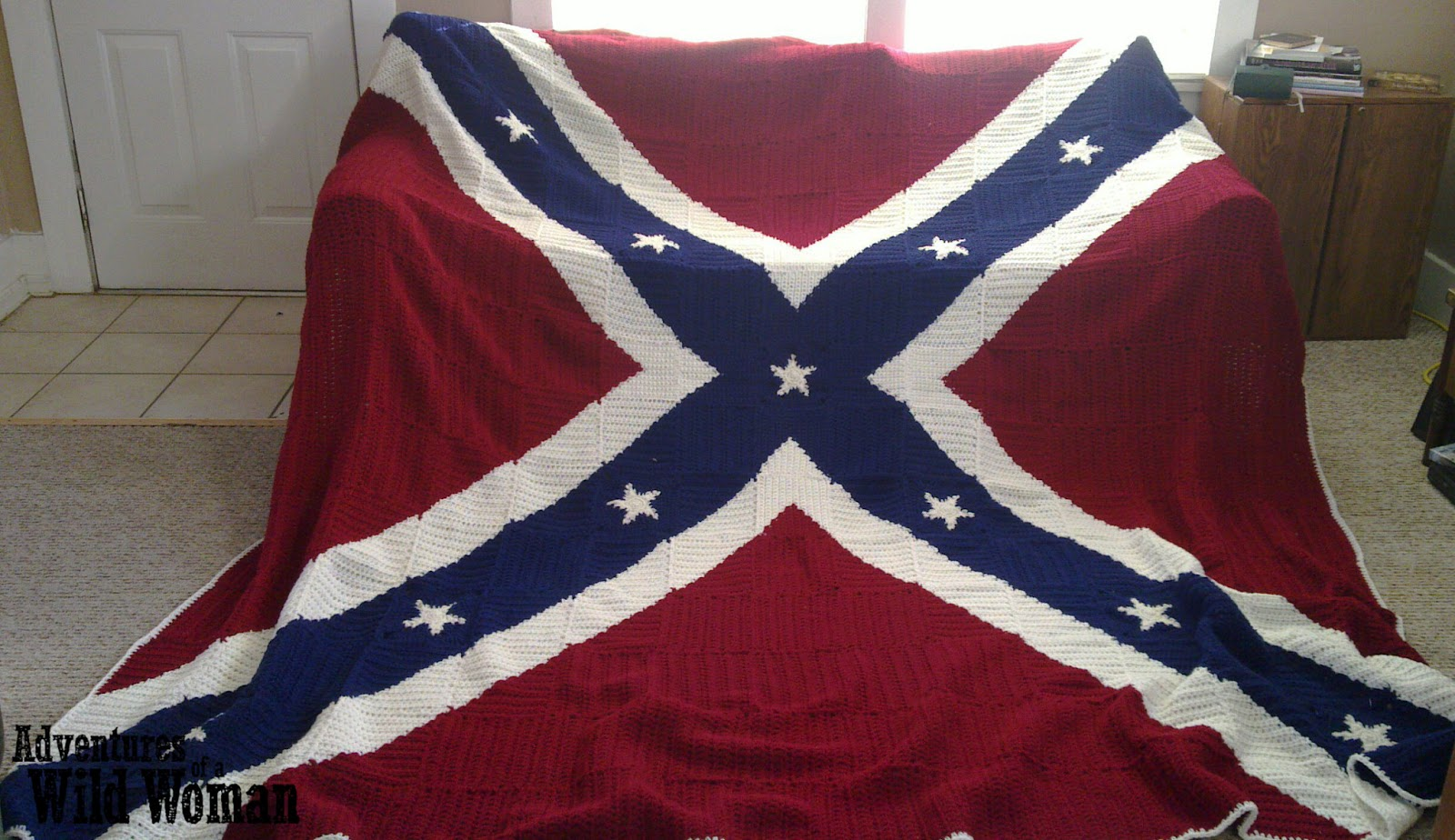 Adventures of a Wild Woman: Crochet Confederate Flag Blanket : rebel flag quilt pattern - Adamdwight.com