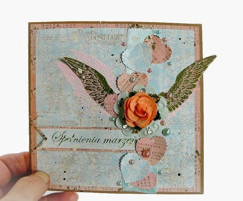 kartka ze skrzydłami