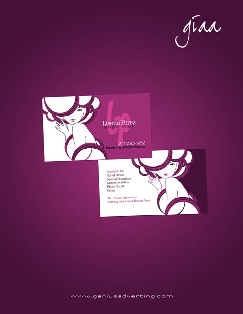 makeup artist business cards - photo #27