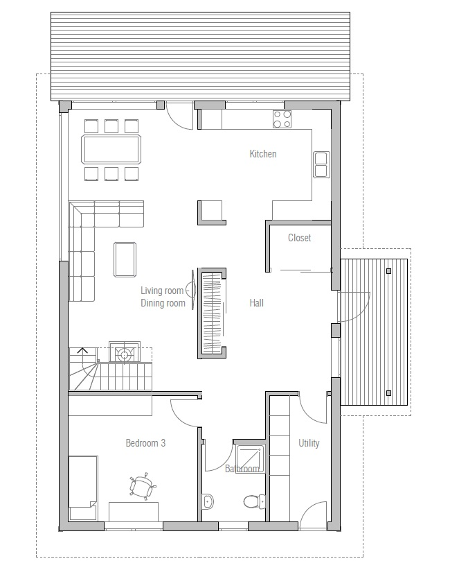 Affordable home plans affordable home plan ch44 for Affordable floor plans