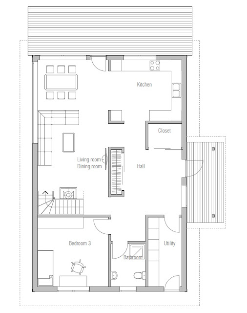 Affordable home plans affordable home plan ch44 for Cheap house plan