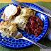 Cranberry, Chicken, Spinach and Leek Enchiladas