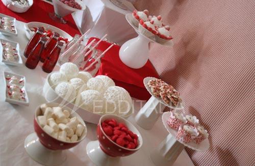 Matrimonio In Rosso E Bianco : Matrimonio in corso real event sweets table bianco e