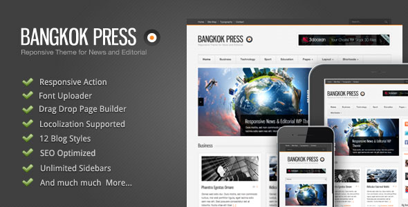 Image for Bangkok Press – Responsive, News & Editorial Theme by ThemeForest