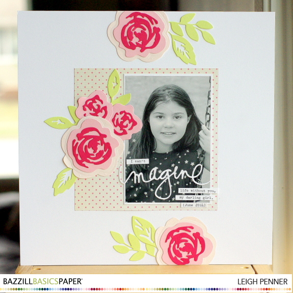 Bazzill Basics National Scrapbook Day Blog Hop Leigh Penner @bazzillbasics #bazzillbasics #scrapbooking