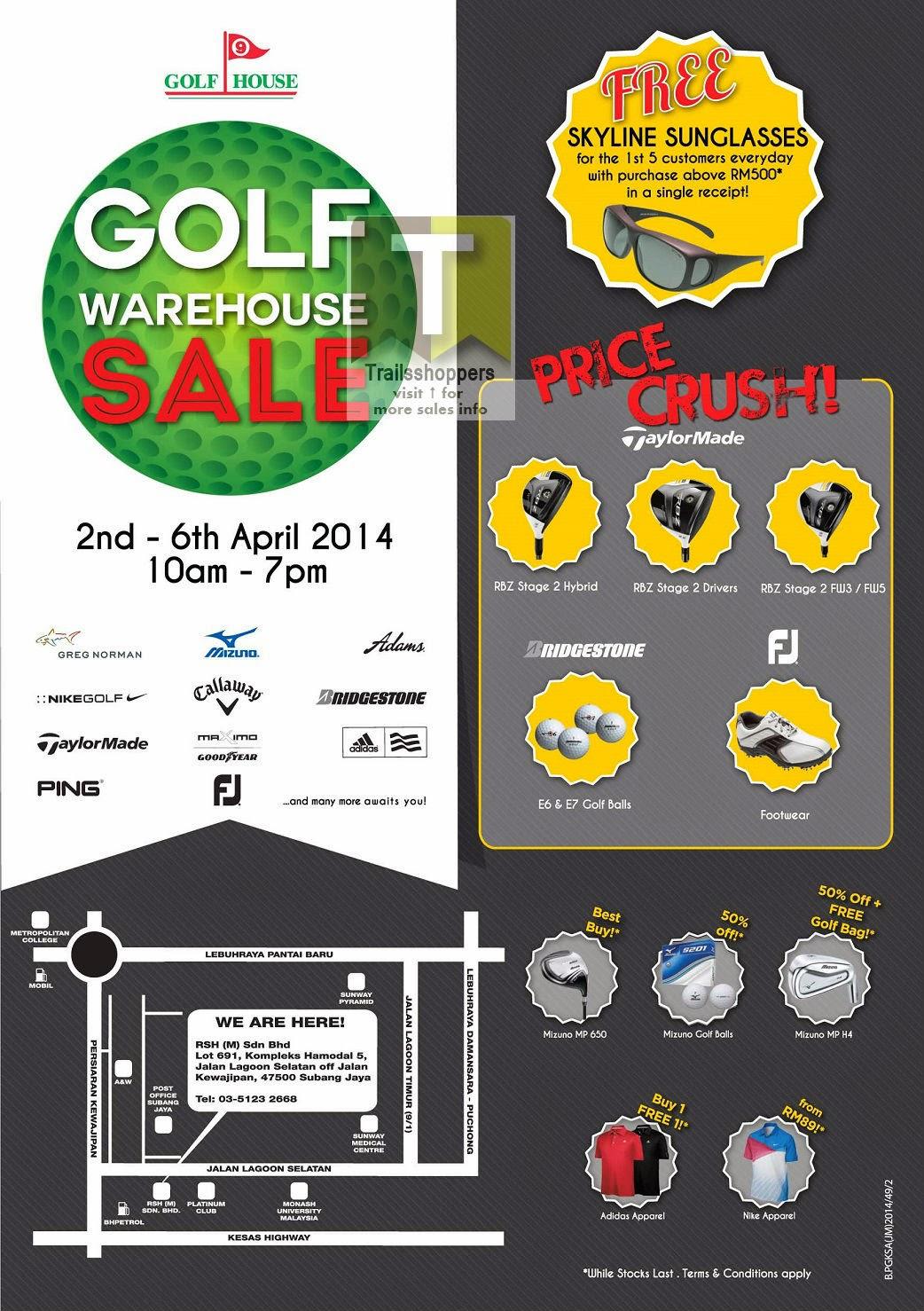 RSH Golf House Warehouse Sale Kompleks Hamodal Lagoon Selatan Subang Jaya