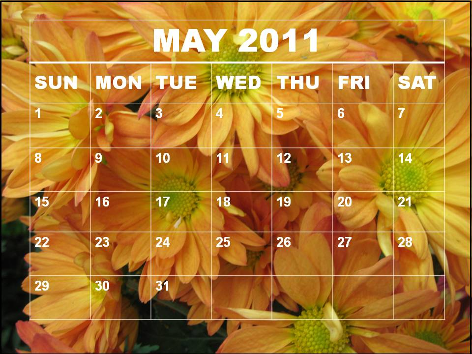 may calendar 2011 template. 2011 calendar template april.