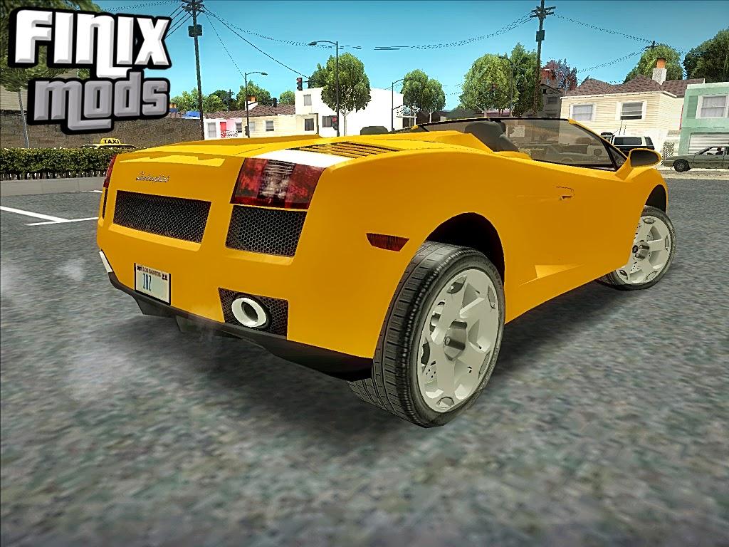 Lamborghini Galllardo Spyder Gta Na Faixa