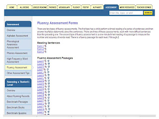 fluency assessments for RtI