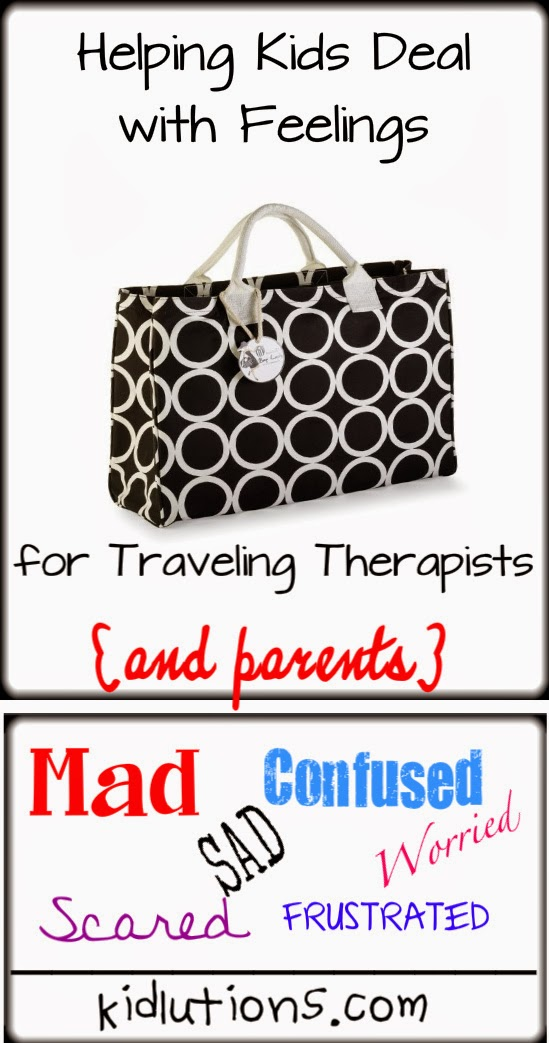 Helping kids deal with feelings as a traveling therapist or parent
