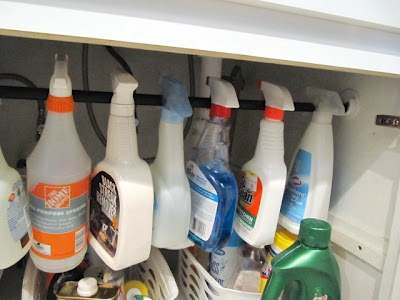 under kitchen sink organization