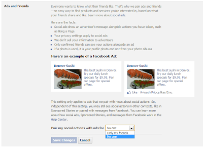 How to remove your profile name/picture in Facebook Sponsored stories-Social Ads