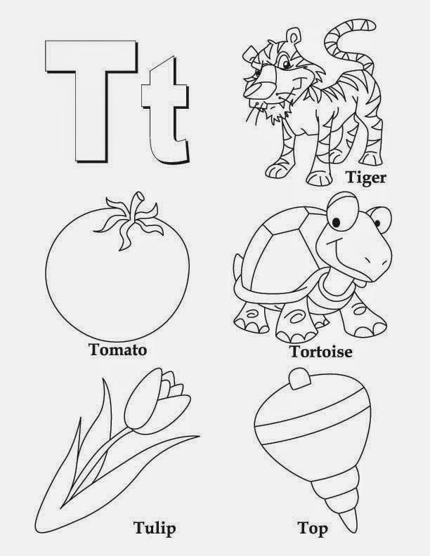 kids page  alphabet letter t worksheet