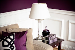 decoración salas color morado