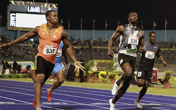 Yohan Blake beat Usain Bolt twice (Jamica trials)