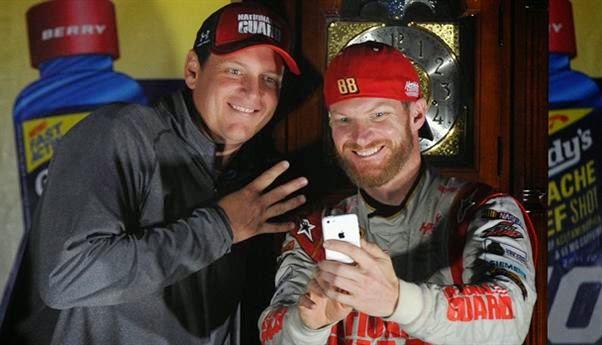 Steve Letarte and Dale Earnhardt Jr. enjoy a fourth visit to # NASCAR Victory Lane this season