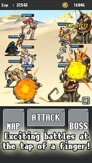 Screenshots of the Automatic RPG for Android tablet, phone.