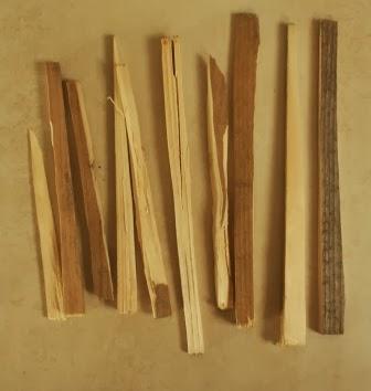 Drobne kawałki drewna