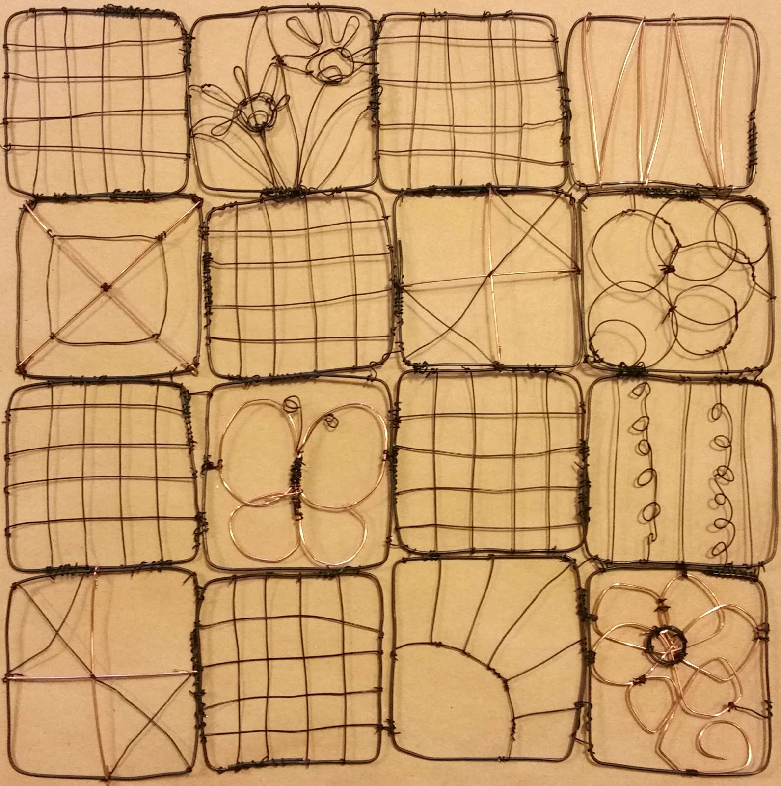 WIRE QUILT WALL HANGING WORKSHOP