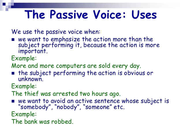 writing in passive voice Passive voice in scientific writing few topics engender such heated debates as that of active vs passive voice this argument is relevant to writing in general, but.