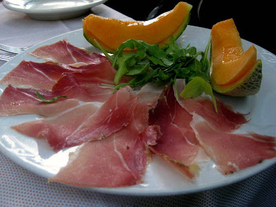 Prosciutto e Melone at Trattoria La Grotta della Rana in San Sano, Italy - Photo by Taste As You Go