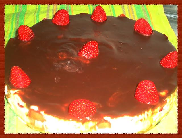 Torta de Delícia de Morango