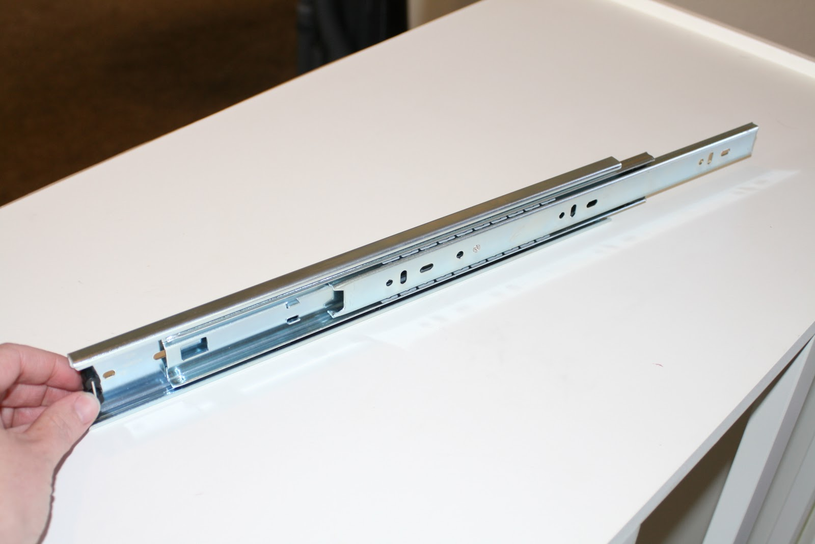Replace kitchen cabinet drawer slides - See