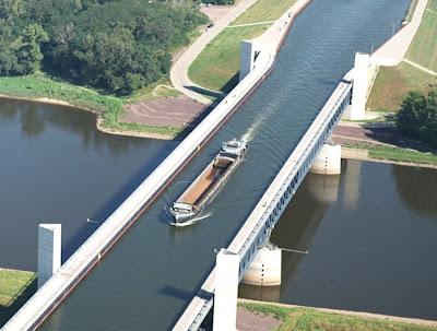 canal Elbe-Havel Mittellandkanal rivière Elbe