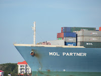 Container Ship Charleston Harbor