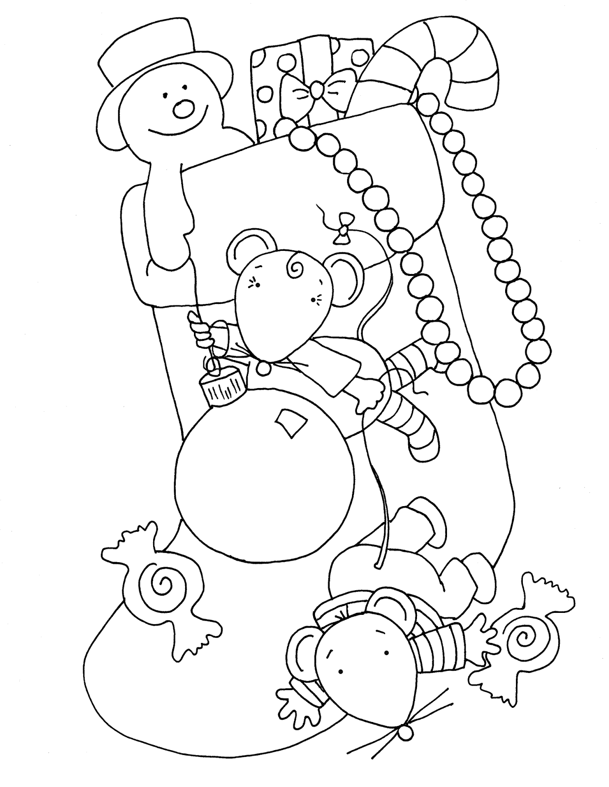 christmas doll coloring pages - photo#31