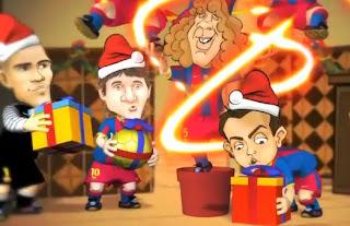 Barcelona desea una Feliz Navidad a sus fanáticos