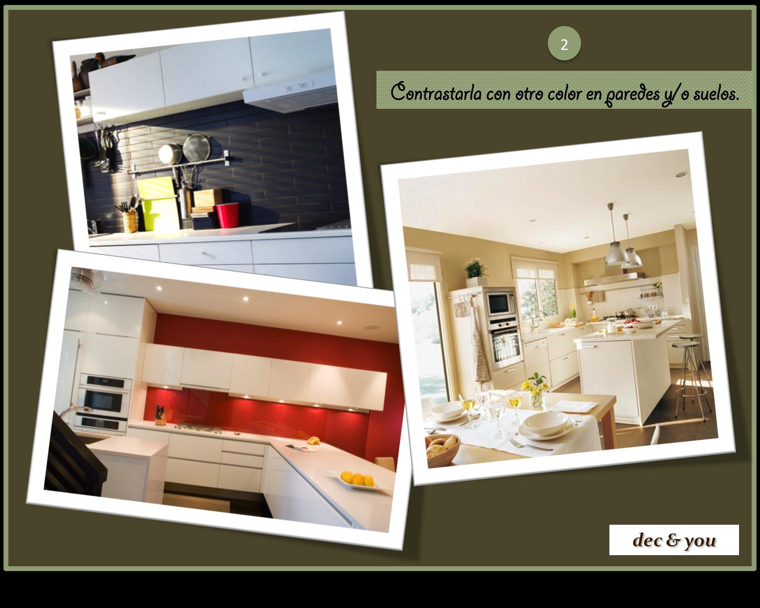 Coordinar gabinete de la cocina piso de madera de color -  Y Qu Colores Elijo Para Contrastar Con El Blanco De Los Muebles And What Colours Do I Choose To Contrast With The White Of The Furniture