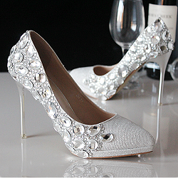 lace Wedding Shoes from dresswe.com