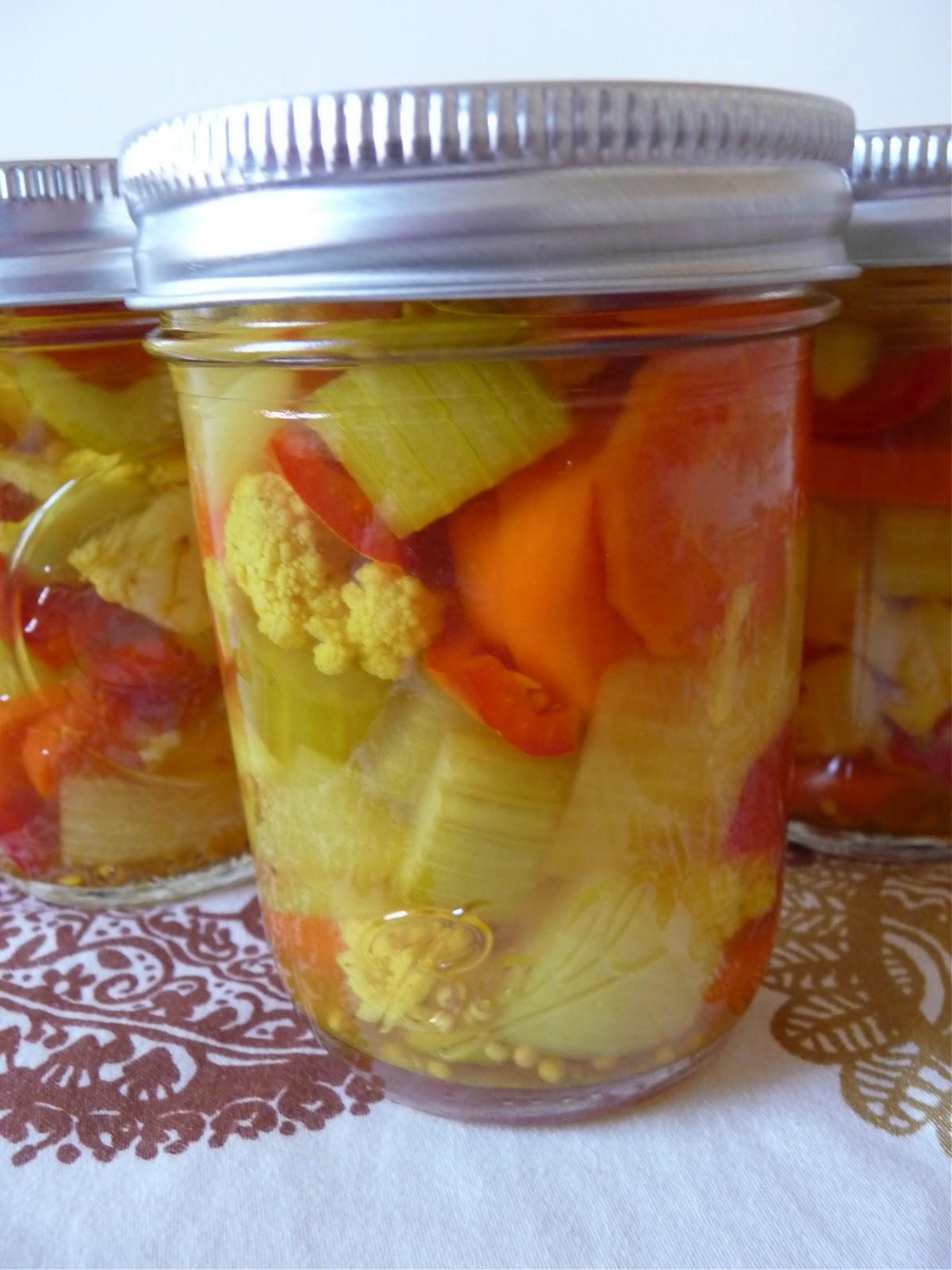 dinner party: italian pickled vegetables