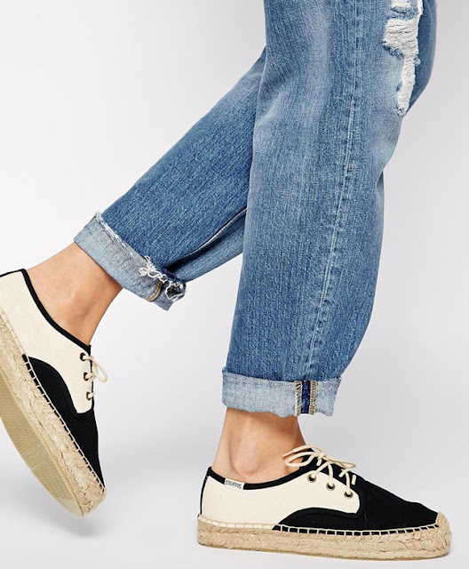 Without espadrille summer is never complete. Soludos Derby Lace Up Platform Espadrille Flat Shoes