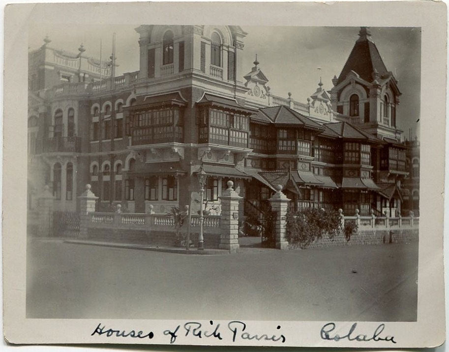 House of Rich Parsi People - Undated Photograph, Colaba, Bombay (Mumbai)