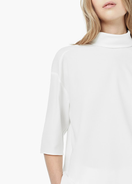 white high neck t-shirt,
