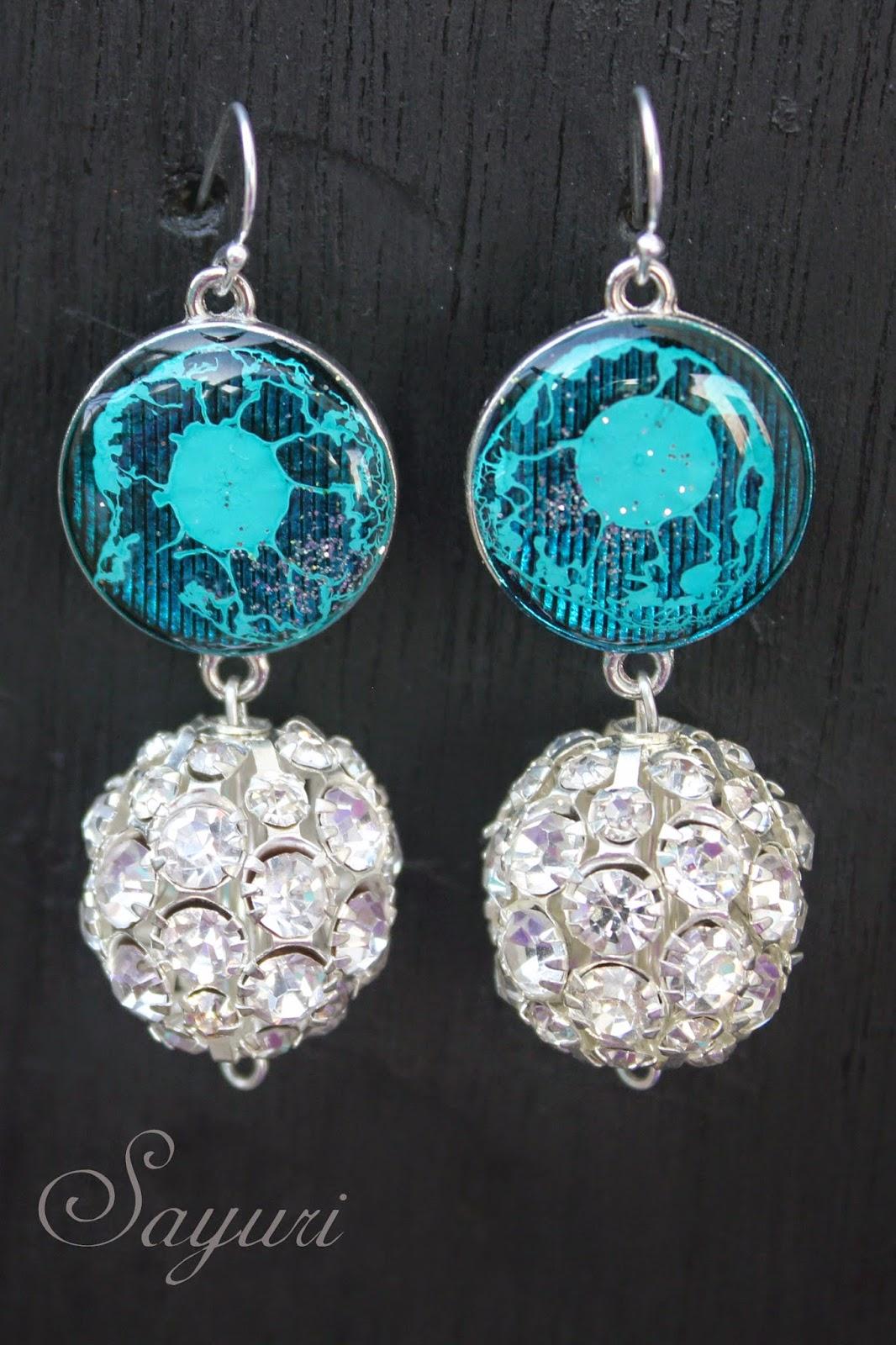 Translucent Bling resin earrings