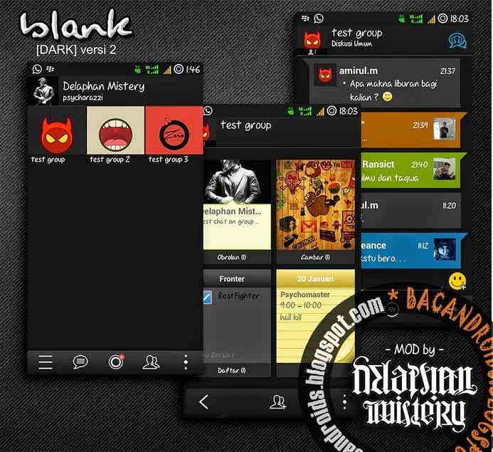 Download BBM2 Dual Tema Blank Thema Dark Enter Key Klone