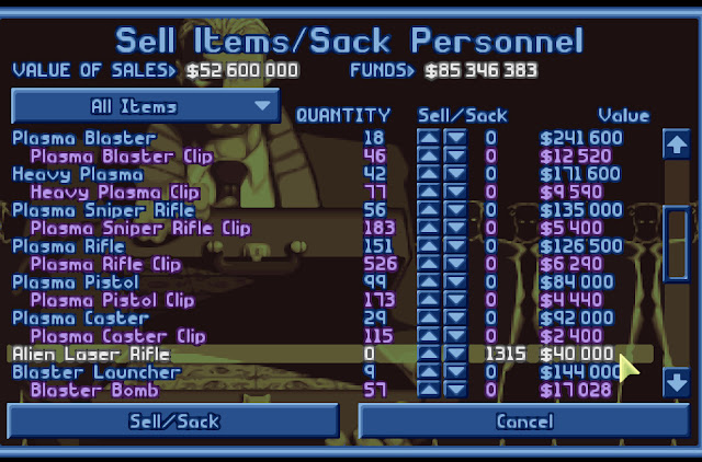Open Xcom - Sell Items Screenshot