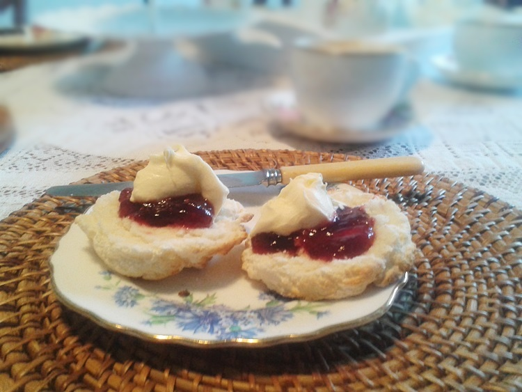 Gluten Free scones with cream and jam