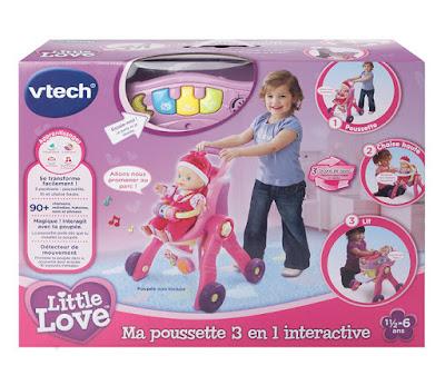 TOYS : JUGUETES - LITTLE LOVE Carrito de bebé 3 en 1 : Cuna , Trona , Carro Anunciado en Television | VTECH | Edad: 1.5-6 años Muñeca no incluída | Comprar en Amazon España