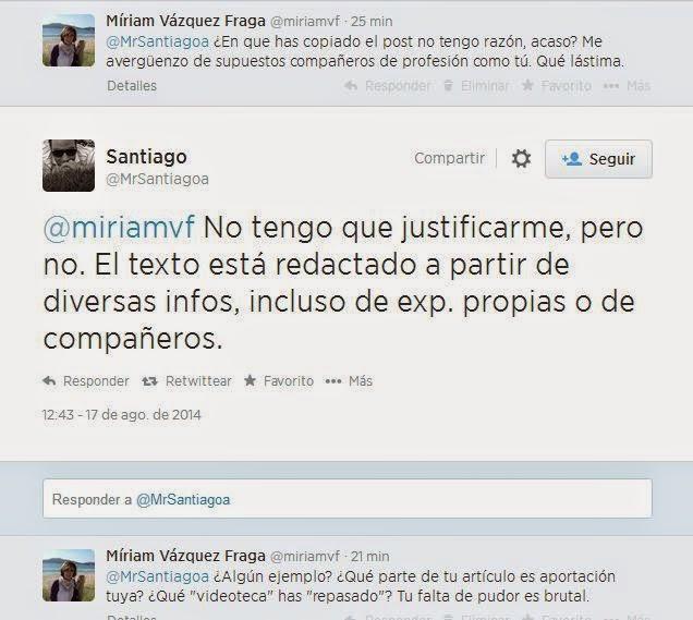 Santiago Aparicio, periodista de Fórmula TV, plagiador, copión, mal profesional