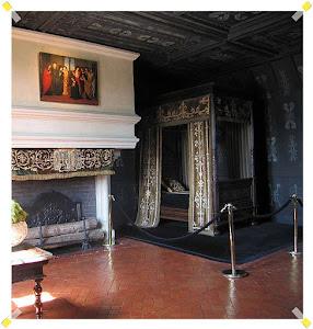 Chenonceaux quarto da rainha Luisa de Lorena