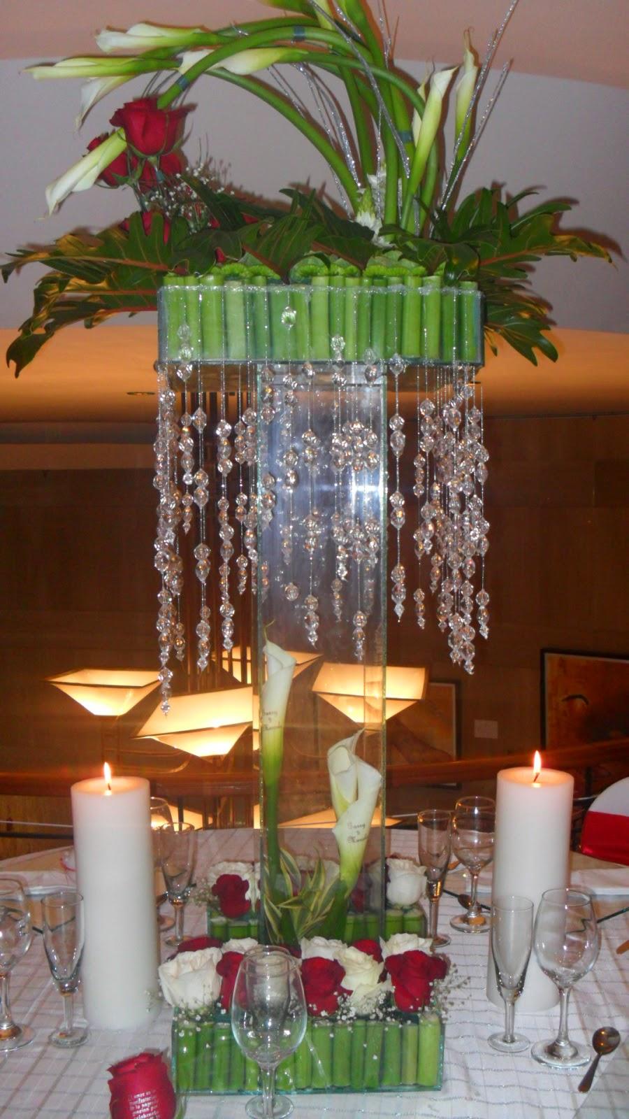 Centros de mesa para bodas fiori bella colombia - Mesas de centro de vidrio ...