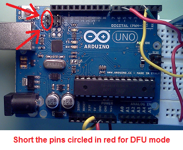 Arduino mini firmware via arduino uno