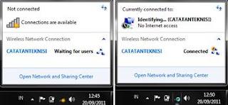 status client wifi ad hoc