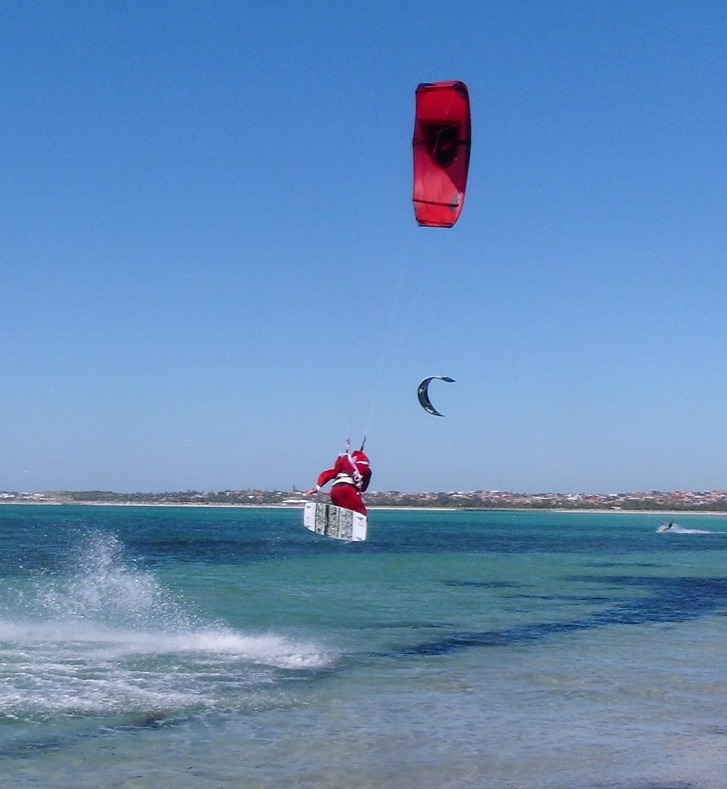 marina goes kitesurfing weihnachten in australien. Black Bedroom Furniture Sets. Home Design Ideas