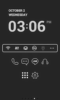 Screenshots of the Super simple Black Dodol Theme for Android mobile, tablet, and Smartphone.