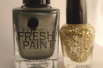 Fresh Paint- Olive You & Sally Girl-Gold Glitter
